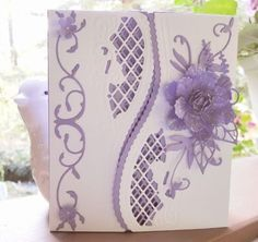 Lovely Lilac Bday card opens in middle by jasonw1 - Cards and Paper Crafts at Splitcoaststampers by dianne