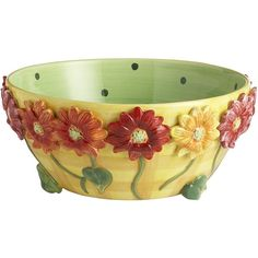 Pier One Daisy Serve Bowl ($12) ❤ liked on Polyvore