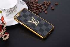Louis Vuitton Leather Cases For iPhone8/7S/7/6S/6/Plus Black