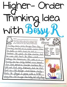 This post starts simple identification with bossy r and builds all the way up to higher-thinking ideas. Very informative with lots of fun activities for students! There is a similar worksheet for ar included in the freebie!