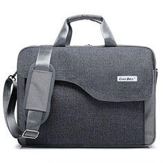 Laptop Bag Case Shoulder Messenger Briefcase Pc Mac Tablet Handbag Modern Gray #LaptopBag