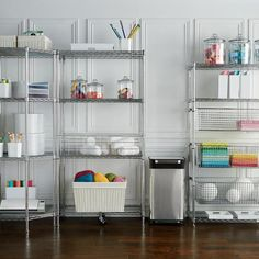Four-Tier Corner Shelf & Liners Pantry Shelving Units, Pantry Storage, Storage Shelves, Garage Storage Systems, Garage Storage Cabinets, Sports Equipment Storage, Feng Shui Office, Deep Shelves, Shelf Liners