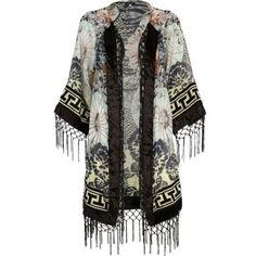 New spring trends kimono top fringed :)