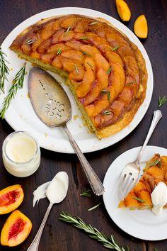 The Bojon Gourmet: (Gluten-Free!) Rosemary Nectarine Upside-Down Cake
