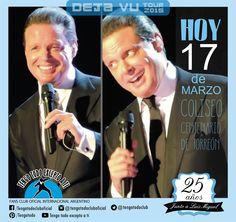 17-03-2015 - Deja Vu Tour 2015- Hoy en Coliseo Centenario de Torreón- México-. Tengo Todo Excepto a Ti, fans club oficial internacional Argentino-  Desde 1990 Junto a Luis Miguel Seguinos en todas nuestras redes sociales: FACEBOOK:  https://www.facebook.com/pages/Tengo-Todo-Excepto-A-Ti/595464773913653 TWITTER: @tengotodoclub - INSTAGRAM: @Tengotodocluboficial - y también en nuestro canal de YOUTUBE- o escribinos al MAIL: tengotodocluboficial@gmail.com
