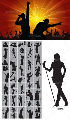 Singer Silhouette #GraphicRiver This is nice and high detail vector. In this…