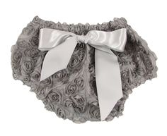 Gray Rosette Diaper Cover from alwaysunderpay.com