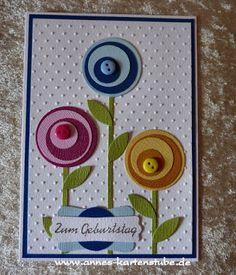 Annes Kartenstube: Eine Geburtstagskarte More Handmade Birthday Cards, Happy Birthday Cards, Greeting Cards Handmade, Card Birthday, Birthday Images, Birthday Greetings, Birthday Wishes, Envelopes Decorados, Karten Diy