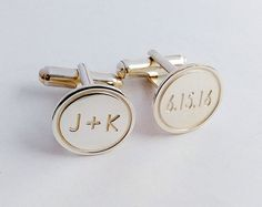 Personalized Wedding CufflinksGroom by MonogramNecklace2014