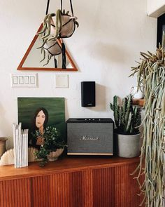 Marshall Woburn, First Apartment, City Living, Marshall Speaker, Mid Century Design, Home Interior Design, Gallery Wall, Instagram, Bluetooth Speakers