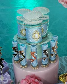 Little Mermaid Parties, Ariel The Little Mermaid, Mermaid Birthday, Girl Birthday, Mermaid Board, Mermaid Cakes, Quinceanera Invitations, 1st Birthday Parties, Holidays And Events