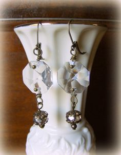 Large vintage clear chandelier crystal by LulusPetalsJewelry ...