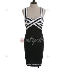 Sexy Sweetheart Neck Color Block Packet Buttock Women's Bandage Dress