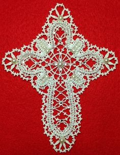 Advanced Embroidery Designs - Freestanding Battenberg Lace Cross