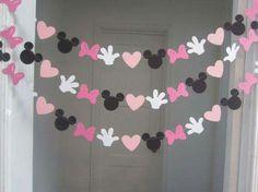 Guirnaldas para fiesta temática de Minnie