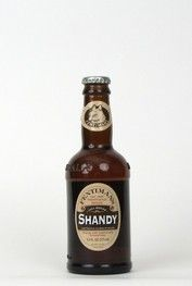 """""""Shandy""""....A mixture of lemonade and beer gives this drink a refreshing taste. It contains less than 0.5% alcohol, categorizing it as a soft drink instead of an alcoholic beverage. Goes down smoothly with a splash of lemon for a crisp flavor. From the UK since 1905."""