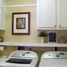 laundry room shelf with clothes pole - Google Search