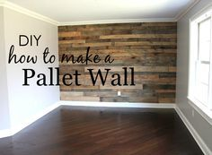 How to Build a Pallet Wall My husband and I spent a couple weekends building my dream pallet wall for our son's big boy room. Here's what we did to build a pallet wall in his room. The post How to Build a Pallet Wall appeared first on Pallet ideas. Pallet Walls, Pallet Furniture, Pallet Wall Bedroom, Diy Pallet Wall, Pallet Accent Wall, Wood Plank Walls, Furniture Ideas, Pallet Shelves, Pallet Nursery Ideas