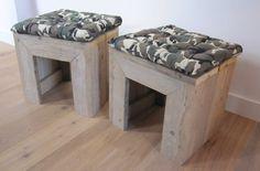 Boy kruk | Steigerhout | Te koop bij w00tdesign | by w00tdesign | Meubels van steigerhout