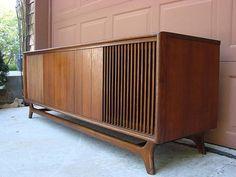 danish modern stereo cabinet
