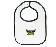 KSU bib featuring embroidered Flying Owl logo. FREE SHIPPING until 01/19! Digital Textbooks, Kennesaw State, Owl Kids, Owl Logo, Atlanta, Free Shipping, Clothes, Outfits, Clothing