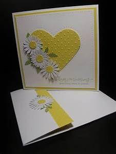handmade anniversary card ... yellow and white ... big ...