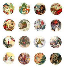 Vintage Christmas Free Bottle Cap Images by Folie du Jour