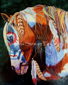 Indian War Pony (Horse)  Original one of a kind painting 16x20