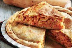 Τυρόπιτα µε κίτρινη κολοκύθα Cheese Pies, Greek Recipes, Apple Pie, Recipies, Cheesecake, Oven, Rolls, Food And Drink, Favorite Recipes