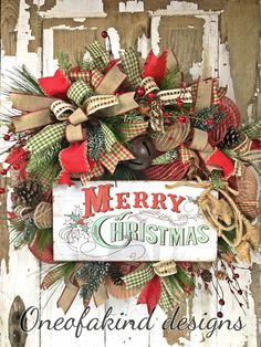 Country Rustic Christmas Wreath
