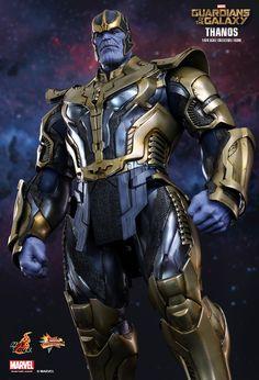 Thanos e Capitão America em novo uniforme pela Hot Toys