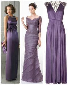 modelos de vestido de madrinha lilás