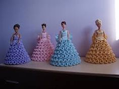 Résultats de recherche d'images pour «vestidos de papel para muñecas»
