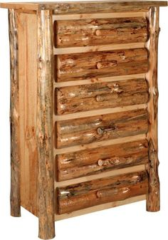 Amish Lodge Pole Pine Chest of Drawers