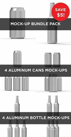 CM - Cans and Bottles Mock Up Bundle Pack 468818