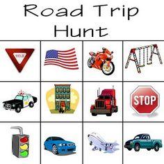 road trip hunt printables