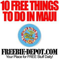 10 FREE Things to do in Maui