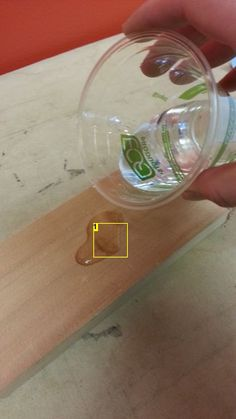 How to remove dents from wood.
