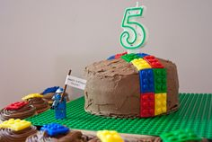 Peanut Butter #Cake with Fondant Legos! Also a King Arthur Flour #giveaway