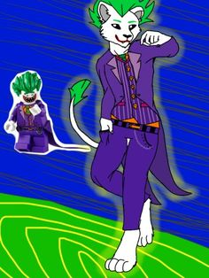 "I have drawn the #Joker (not my base) in the new ""the lego Batman movie"" style and ... omg, I. LOVE. THESE. STYLE. Really I think I have fallen in love again and Joker looks so #hot  X3  #Furry #lion [#Joles] ok ok, come down Miles, come down..."