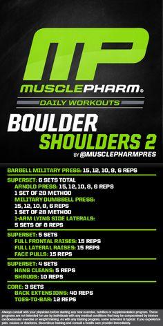 Boulder Shoulders 2 workout | Posted By: AdvancedWeightLossTips.com
