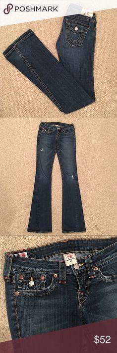 True Religion Wide Leg Jeans 26 Size 26 True Religion Flare Leg Jeans Jeans Flare & Wide Leg