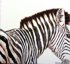 Zebra painting. Acrylic on canvas by Molawrenson. https://m.facebook.com/profile.php?id=215901201804597