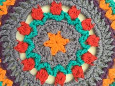 Erica's Crochet Contribution to Mandalas for Marinke + #depressionawareness art exhibit