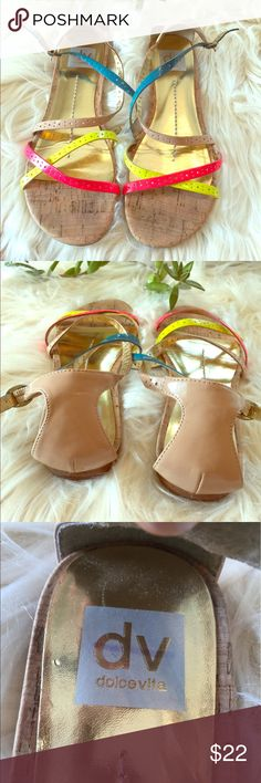 Dolce Vita Multi-colored Strappy Sandals. Lightly worn. Great Condition. Size 7 Dolce Vita Shoes Sandals