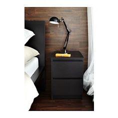 MALM Byrå med 2 lådor, svartbrun - 40x55 cm - IKEA