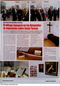 Prensa 2014 10 27 revista puerta de madrid   semanario - artículo sobre exposición con los ojos del alma by Javier Ruiz via slideshare