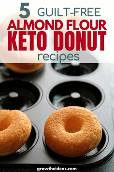 10 Most Misleading Foods That We Imagined Were Being Nutritious! Check Out These 5 Almond Flour Keto and Low Carb Donut Recipes Keto Lchf Sweet Recipes For Losing Weight Keto Cookies, Keto Donuts, Almond Flour Cookies, Low Carb Doughnuts, Sugar Free Donuts, Healthy Donuts, Keto Pancakes, Chip Cookies, Low Carb Donut