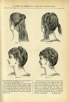 Out of the thousands of fashion plates held by the department, the ones from the 1870s and 1880s never fail to astonish with their depictions of lustrous and abundant hairstyles. We've often…