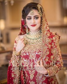 Our Gorgeous bride from Turkey 💕 Pakistani Bridal Makeup, Indian Bridal Outfits, Pakistani Bridal Dresses, Bridal Lehenga, Saree Wedding, Wedding Hair, Wedding Dresses, Beautiful Indian Actress, Beautiful Bride